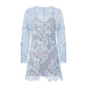 Self-Portrait Dresses - SELF-PORTRAIT Blue 3D Floral Guipure Lace Mini